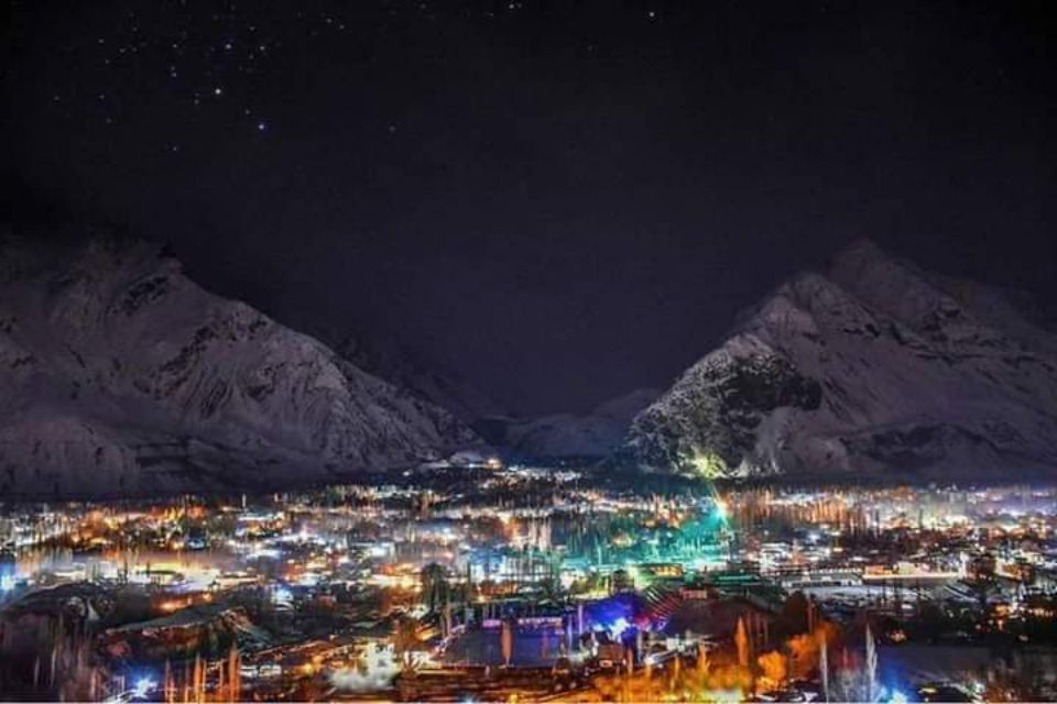 Skardu City at Night